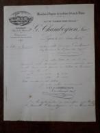 L15/88 Ancienne Lettre . Lyon. Moulins à Vapeur De La Gare D'Eau De Vaise . G.Chambeyron. 1895 - 1800 – 1899