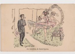 Cpa Fantaisie Signée High( ?)   / La Tentation De Saint-Cyrien - Dans La Loge De 2 Jolies Danseuses - Künstlerkarten