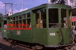 Reproduction D'une Photographie D'untramway Vert Ligne 7 Circulant à Bâle En Suisse En 1965 - Reproductions