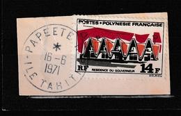 POLYNESIE YT 73 Oblitéré Sur Fragment 18 Juin 1971 Papeete - Frans-Polynesië