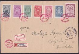 Yugoslavia, 1948, Coat - Of - Arms, Zagreb Cancellation, FDC, Express Registered Cover - 1945-1992 République Fédérative Populaire De Yougoslavie