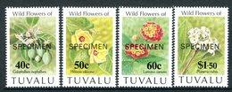 Tuvalu 1993 Flowers - SPECIMEN - Set MNH (SG 664-667) - Tuvalu