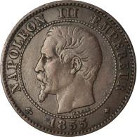 Monnaie, France, Napoleon III, 2 Centimes, 1855, Strasbourg, TTB, Gad 103 - Francia