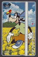 Japan / Japon - Walt Disney, Pluto, Cartoon, Spring Flowers - Phone Card - Disney