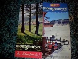 Vieux Papier Dépliant Touristique Montgenèvre Année 50,? - Dépliants Touristiques