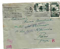 SPM011 / SPAN. MAROKKO - Tanger Nach Paris 1941 Mit Deutscher Und Spanischer Zensur - Spanisch-Marokko