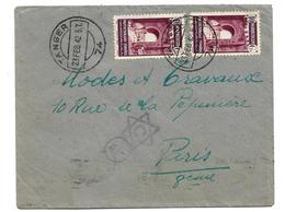 SPM012 / SPAN. MAROKKO - Tanger Nach Paris 1942 Mit Deutscher Und Spanischer Zensur - Spanisch-Marokko