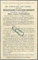 Ferdinand Van Der Mieren :  Houtvenne 1882 -  Leuven 1950     ( See Scans ) - Andachtsbilder