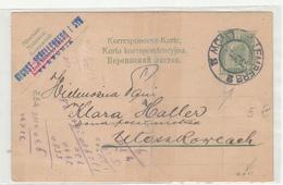 Austria Polish Ukranian Postal Stationery Postcard August Schellenberg I Syn Posted 1908 Lemberg Lwow Pmk B200601 - Interi Postali