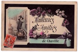 """7192 - Chaville ( 92 ) - Cp Fantaisie - """" Meilleures Amitiés De Chaville """" - - Chaville"""