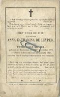 Anna De Cuyper  :  Houtvenne 1776  -  Booischot 1858      ( See Scans ) - Andachtsbilder