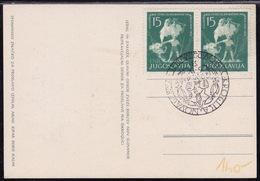 Yugoslavia, 1953, Istria, Slovene Littoral Liberation, Commemorative Card - 1945-1992 République Fédérative Populaire De Yougoslavie
