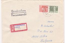 Germany – DDR /Bulgarien Einschreiben 1989 Mit R-Zetteln Aus 9301- Gunersdorf - Briefe U. Dokumente