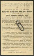 Gustavus Van Der Mieren :   Houtvenne 1901  -  Herselt 1933        ( See Scans ) - Andachtsbilder