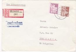 Germany – DDR /Bulgarien Einschreiben 1989 Mit R-Zetteln Aus 6204- Barchfeld - Briefe U. Dokumente