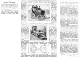 LES VEHICULES à AIR COMPRIME  1899 - Vervoer