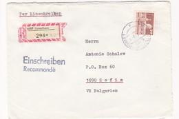 Germany – DDR /Bulgarien Einschreiben 1989 Mit R-Zetteln Aus 6207- Immelborn - Briefe U. Dokumente