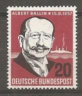 BDP 1957 Yv N° 138  Mi N° 266  ** MNH  Armateur Ballin  Cote 1,7 Euro TBE - Nuovi