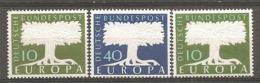 BDP 1957 Yv N° 140,141,166 (filQ)  Mi N° 268,269,294 (Wz5)  ** MNH  Europa  Cote 13 Euro TBE - Nuovi
