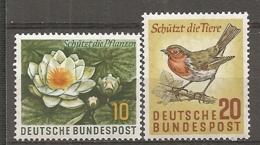 BDP 1957 Yv N° 146,147  Mi N° 274,275  ** MNH  Flore, Faune  Cote 1,2 Euro TBE - Nuovi