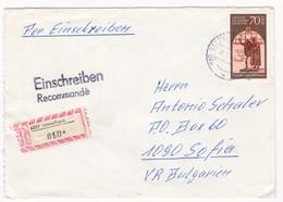 Germany – DDR /Bulgarien Einschreiben 1990 Mit R-Zetteln Aus 6207- Immelborn - Briefe U. Dokumente
