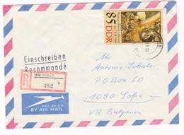 Germany – DDR /Bulgarien Einschreiben 1989 Mit R-Zetteln Aus 5800- Gotha 1 - Briefe U. Dokumente