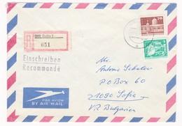 Germany – DDR /Bulgarien Einschreiben 1989 Mit R-Zetteln Aus 5800- Gotha 3 - Briefe U. Dokumente