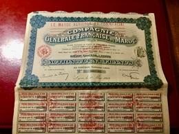 Cie  GÉNÉRALE  FRANÇAISE  Du  MAROC --------Action  De  100 Frs - Agriculture
