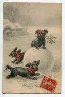 CHIENS M.M VIENNE Munk Nr 770 Heureuse Année Chiens Jouant Tournant Autour Boule De Neige  R .ULREICH  Illustr  D09 2020 - Hunde