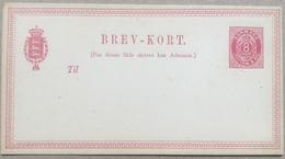 DENMARK 1870`s Stationary Card Brev-Kort 8 Ore Red Unused - 1864-04 (Christian IX)