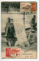GABON LASTOURVILLE   Tisserands Adouma   Au Travail Métier à Tisser 1914 Timbrée Libreville    D09  2020 - Gabun