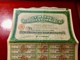LE  MAROC  AGRICOLE  &  COMMERCIAL  --------- Action  De  100 Frs - Agriculture