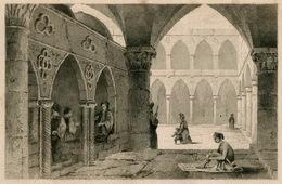 Bazar A St. Jean D'Acre Acre Israel Architecture Ottoman Turkish Empire Turkey Antique Engraving 1840 - Estampas & Grabados