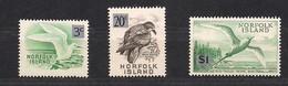 Norfolk 1966 Yvertn° 64, 69 Et 73  *** MNH Cote 11,40 Euro  Faune Oiseaux Vogels Birds - Norfolk Island