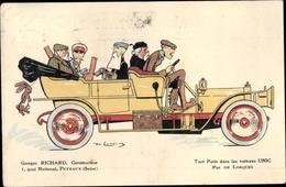 Artiste Cp Auto Unic, Georges Richard, Quai National, Par De Losques, Hase Am Wagen - Non Classificati