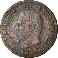 Monnaie, France, Napoleon III, 2 Centimes, 1853, Lyon, Rare, TB, Gad 103 - Francia