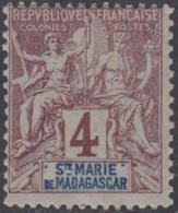 Sainte-Marie De Madagascar - N° 03 (YT) N° 3 (AM) Neuf *. - Neufs