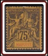 Mayotte - N° 12 (YT) N° 12 (AM) Neuf *. Forte Adhérence Au Verso. - Mayote (1892-2011)