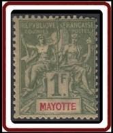 Mayotte - N° 13 (YT) N° 13 (AM) Neuf *. - Mayote (1892-2011)