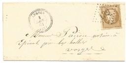 72P - VOSGES - ARCHES - Gros Chiffre 139 - Pour EPINAL - Mars 1864 - Type 22 - Tarif Lettre Locale - - 1849-1876: Période Classique