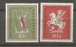 BDP 1958 Yv N° 157,158  Mi N° 286,287  ** MNH  Jeunesse Cote  6 Euro TBE - Nuovi