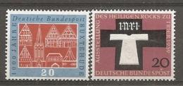 BDP 1959 Yv N° 185,186 Mi N° 312,313  ** MNH  Buxtehude ; Sainte Tunique  Cote 1 Euro TBE - Nuovi