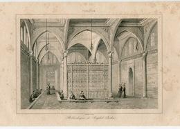 Istanbul Library Rahyb Pasha Ottoman Turkish Empire Turkey Antique Engraving 1840 - Estampas & Grabados