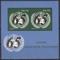 UNO Wien MiNr. Bl. 28 ** 65 Jahre Vereinte Nationen - Otros - Europa
