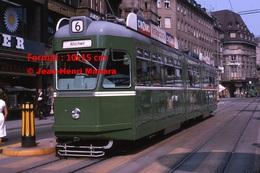 Reproduction D'une Photographie D'un TramwayB.V.B Ligne 6 Avec Publicité Cinzano Vermouth àBâle En Suisse En 1965 - Reproductions