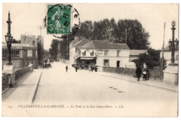 CPA 92 - VILLENEUVE LA GARENNE (Hauts De Seine) - 133. Le Pont Et La Rue Genevilliers - LL - Villeneuve La Garenne