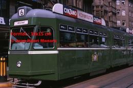 Reproduction D'une Photographie D'un Tramwayligne 6 Allschwill Avec Publicité Cinzano Vermouth àBâle En Suisse En 1965 - Reproductions