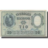 Billet, Suède, 10 Kronor, 1953, 1953, KM:43a, TB - Svezia