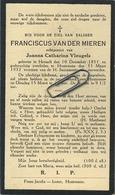 Franciscus Van Der Mieren :   :Herselt 1851 -  Houtvenne 1932   ( See Scans ) - Imágenes Religiosas