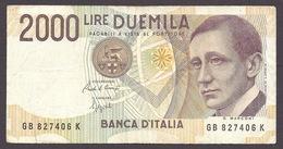 Italia / Italy 1990 - 2000 LIRE, Guglielmo Marconi VF - 2000 Lire